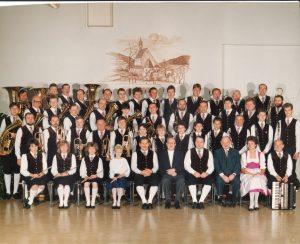 Aufnahme in der neuen Volksschule Senftenberg vom 15. November 1987.
