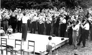 Musikfest mit Blasmusiktreffen und Wettbewerb am 15. Juli 1951